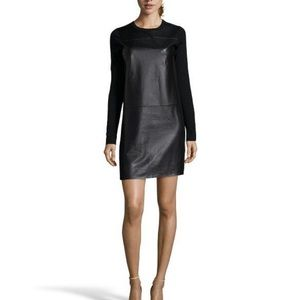 Vince leather front dress!!